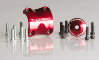 THOMSON X4 Dress Up Kit Red: X4 clamp, top cap, 6 black bolts