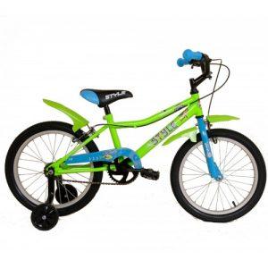 """Παιδικό ποδήλατο 18"""" Style - Fluo Πράσινο 2018"""