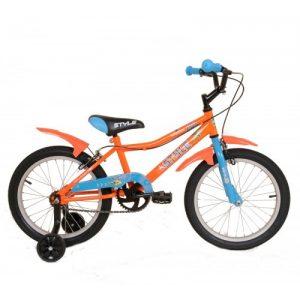 """Παιδικό ποδήλατο 18"""" Style - Fluo Πορτοκαλί 2018"""